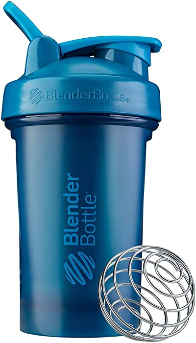 BlenderBottle Classic V2 Shaker Bottle, 20-Ounce, Ocean Blue