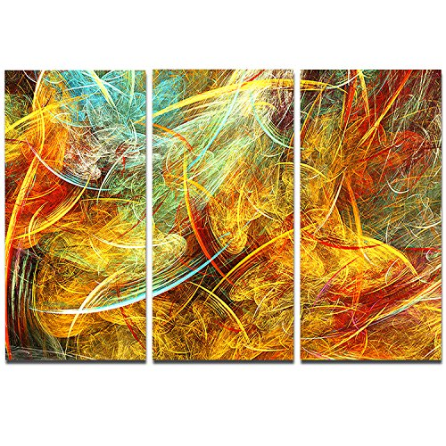 Design  Yellow Swirling Clouds - yellow abstract wall art