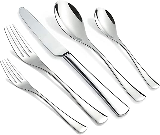 16 pc couverts set en acier inoxydable vaisselle élégante salle à manger ustensiles couverts set