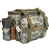 YOGAYET Portable Outdoor Fishing Tackle Bag Multifunctional Lure Waist Fanny Pack Water-Resistant Soft Sided Shoulder Carry Strap Storage Camo