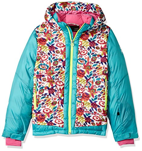 Girl's White Ditz Baltic Nora Spyder Print Large Jacket gtqxPd