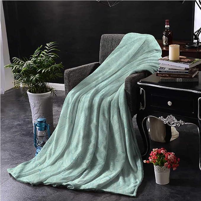 Amazon.com: Anzhudove - Manta personalizada, color turquesa ...