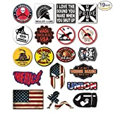 XXL SET 19 Pieces | Construction Worker | Hard Hat Sticker | Decal | Helmet Label Rude Funny