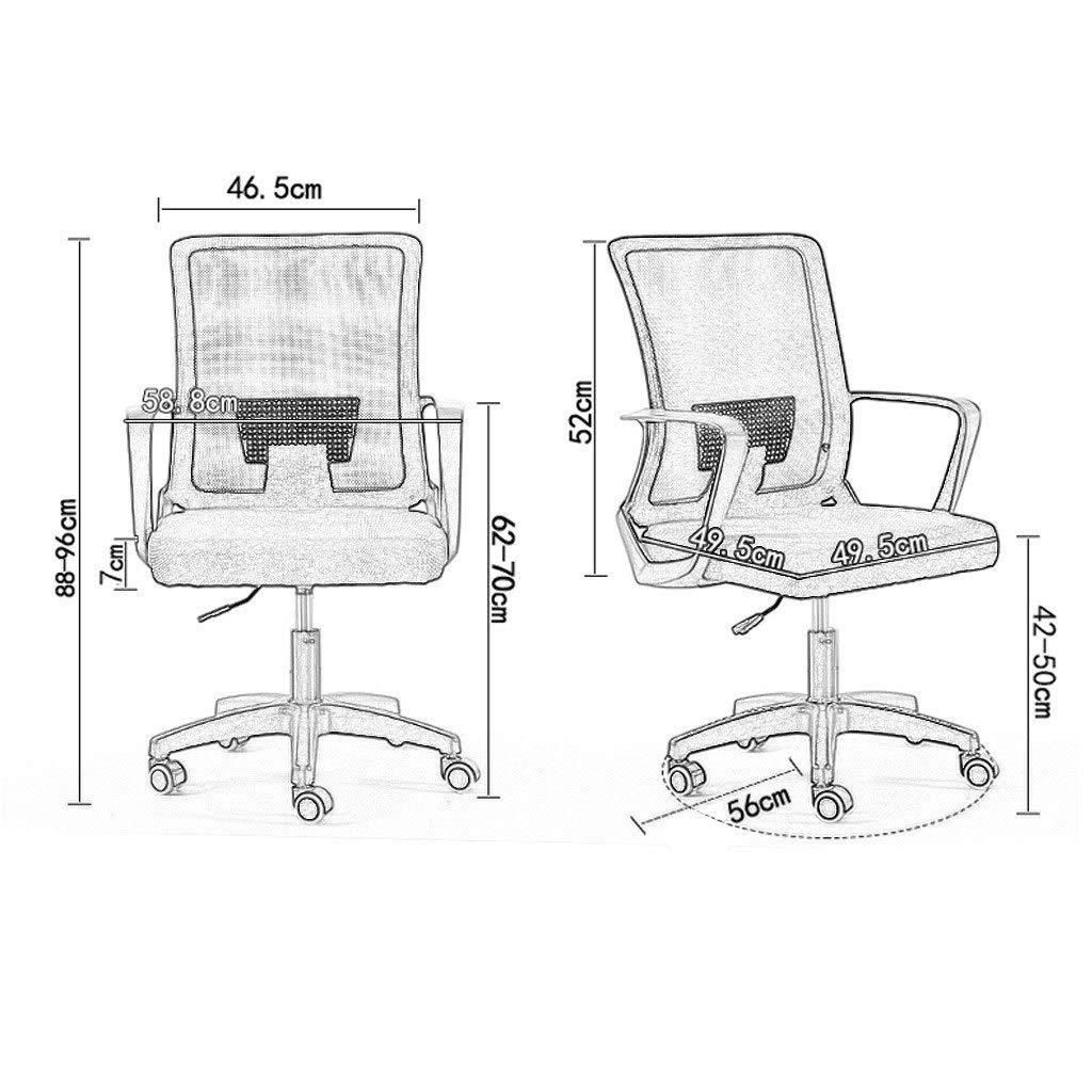 JIAJULL kontorsstol, bekväm skrivbordsstol, ryggstödsuppgift stol, nätryggstolar med armstöd och ergonomisk design Grått Svart