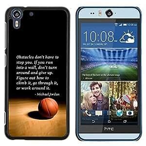 Dragon Case - FOR HTC Desire EYE M910x - basketball Michael Jordan quote sport - Caja protectora de pl??stico duro de la cubierta Dise?¡Ào Slim Fit