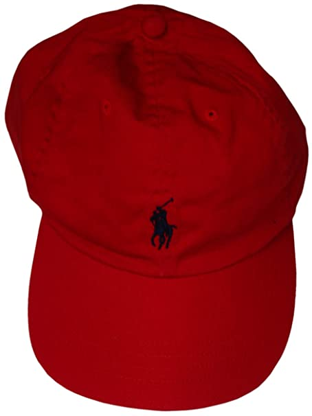 546f441a Polo by Ralph Lauren Men's Hat Ball Cap Red with Navy Pony: Amazon.ca:  Clothing & Accessories