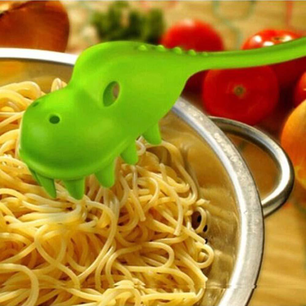 Hunpta 1PCS Creative Dinosaur Shape Serving Spoon for Pasta Spaghetti (Green) Hunpta@