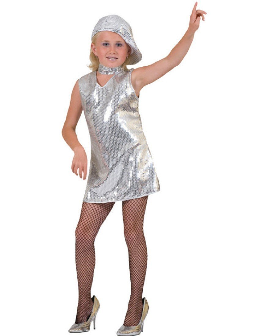 DISCO DRESS CHILD SILVER LG