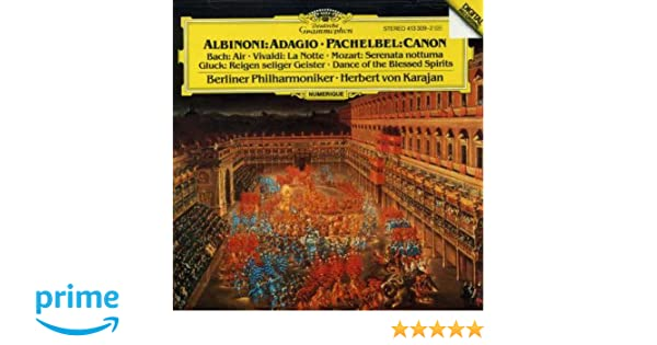 Albinoni: Adagio in G minor / Pachelbel: Canon: Berliner Philharmoniker: Amazon.es: Música