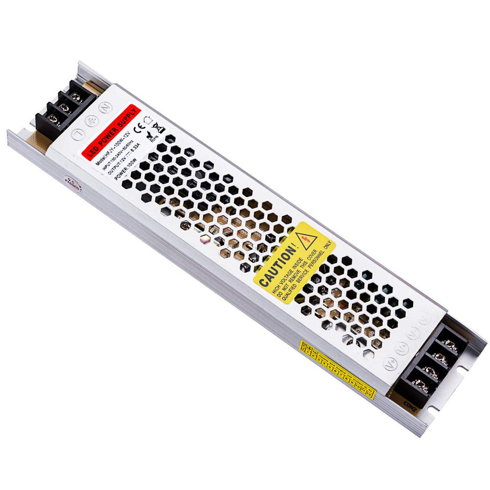 Idealy 100W Ultra-Thin DC 12V LED Power Supply Driver Electronic Transformer for Light Strip