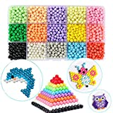 Water Sticky Beads Magic Water Spray Beads Set 15 Colors 2400 Beads Art Crafts Toys for Beginners Complete Set (2400 Beads+Accessories)