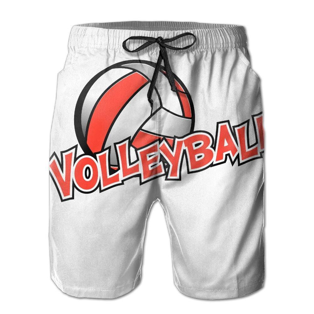Sunshine Volleyball Mens Beach Shorts Elastic Waist Pockets Lightweight Swimming Board Short Quick Dry Short Trunks