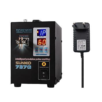 KKmoon Soldador dual del punto de la batería del pedal del modo Dual soldador dual del punto de la soldadura de la pantalla del doble pulso de la ...