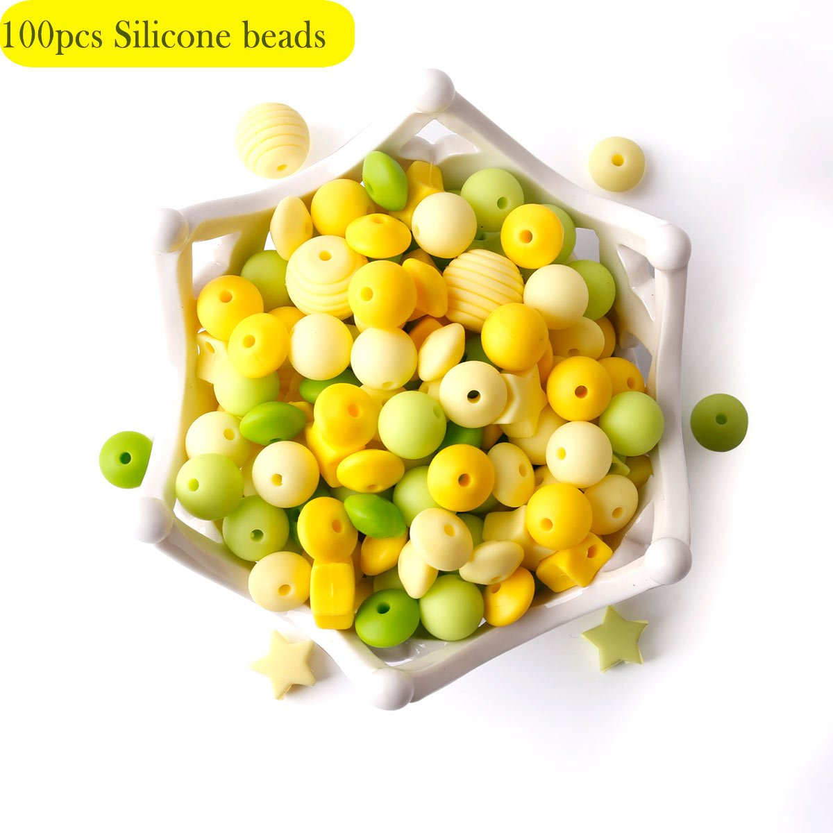 Baby Silicone Teether Beads 100pcs BPA Free Food Grade Teething Beads Purple Series DIY Jewelry Chewable Nursing Necklace Accessories HAO JIE
