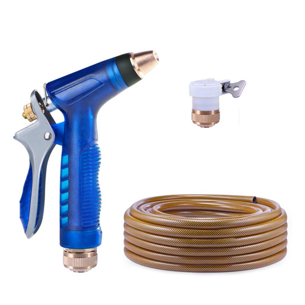 Docce da Giardino Manufatto Ad Acqua Ad Alta Pressione con Manichetta Antincendio per Acqua Potabile per Collegare Il Rubinetto Attrezzature per l'irrigazione (Colore   blu, Dimensione   10m)
