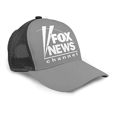 Fox - Gorra de béisbol con Logo de Canal de Noticias, 100% algodón ...