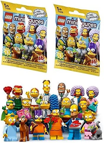2 Packs LEGO Minifigures The Simpsons SERIES 2 71009 Figure Building Kit