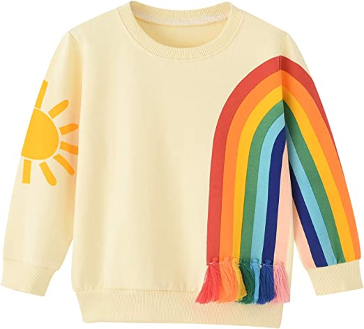 NEW NWT Girls 1st First Birthday Long Sleeve Shirt 9-12 or 12-18 Months Rainbow