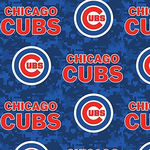 - MLB Chicago Cubs Fleece Fabric Camo - 2 Yards