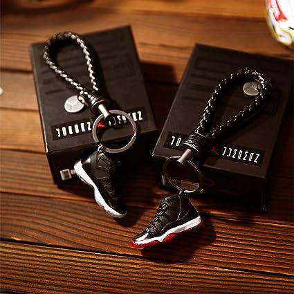 AJ1 20 Mini sneaker 3D porte clés avec boîte cadeau de Noël 1015