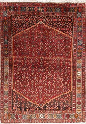 (Bidjar Persian Design Wool Rug Vintage 5 x 6 Geometric Handmade Oriental Carpet)