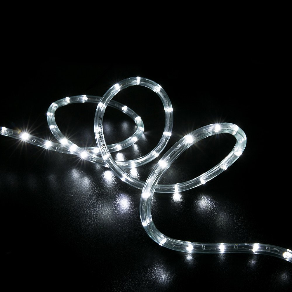 WYZworks 300' feet Cool White 3/8'' LED Rope Lights - Crystal Clear PVC Tube IP65 Water Resistant Flexible 2 Wire Accent Holiday Christmas Party Decoration Lighting by WYZworks (Image #8)