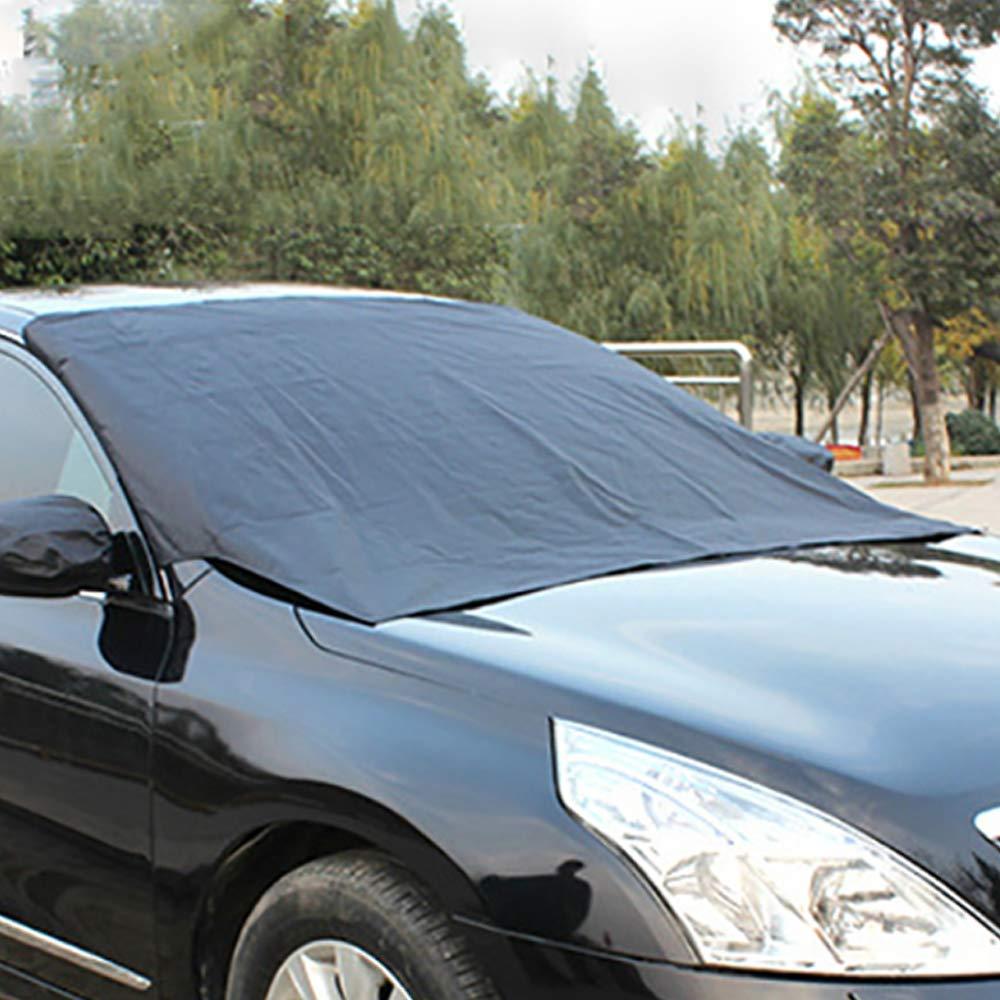 CUNXIA Copertura Parabrezza Auto Telo Pare Brise Protezione Magnetica Universale per SUV la Maggior Parte dei Veicoli Anti Givre, Neve, Ghiaccio, Pioggia & Sole