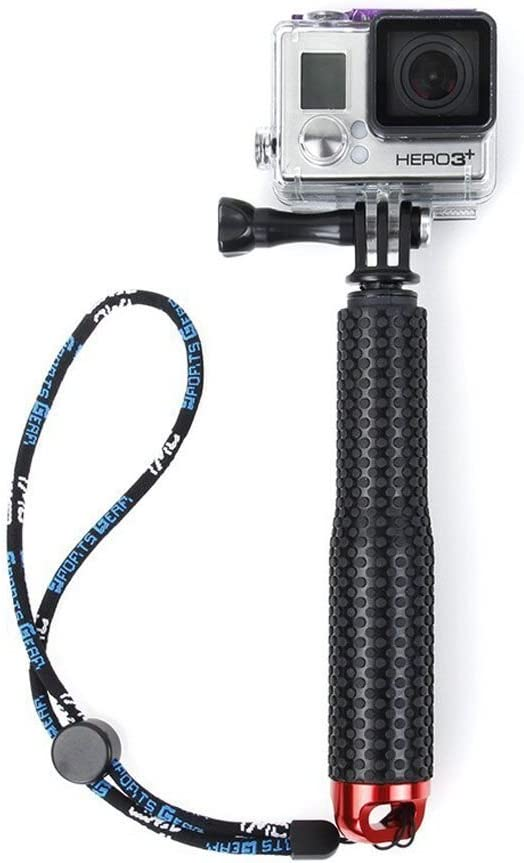 2 Red HuntGold Handheld Monopod Extendable Pole Hand Grip Selfie Stick for Camera 4 3 3