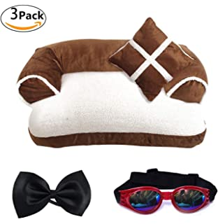 LA VIE Cama Sofá para Mascotas Lavable Extraíble con Almohada Colchoneta Cama Nido Suave…