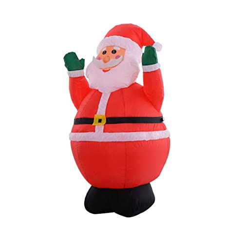 tangkula 4ft airblown inflatable christmas xmas santa claus decoration lawn yard outdoor