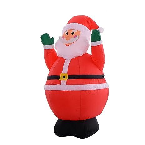 tangkula 4ft airblown inflatable christmas xmas santa claus decoration lawn yard outdoor