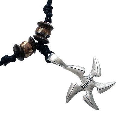Ninjutsu Ninja Throwing Star Shuriken peltre colgante hecho ...