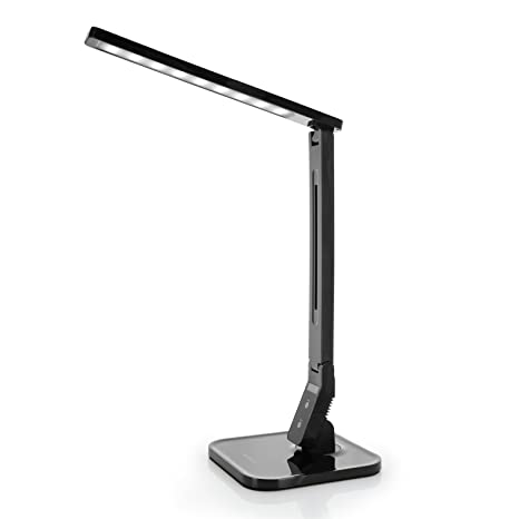 Tenergy 7W Dimmable LED Desk Lamp, 530 Lumens With 5 Dimming Levels, Touch  Control