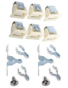 Ketofa 279570 Dryer Door Latch Strike Kit for Kenmore Whirlpool Maytag Parts AP2153772 LA-1003 5366021400 AP3094183 PS2162263 AP4242465 PS475419 PS334230 AP3094183 (Pack of 6)