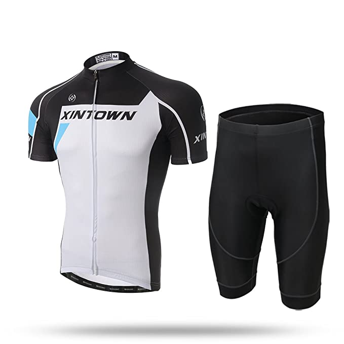 51998191e Amazon.com  2017 Xintow Brand Men Cycling Jersey Short Sleeve Clothing  Racing Cycle Outdoor Sports Bicycle Bike Skinsuits A513 (A shorts set
