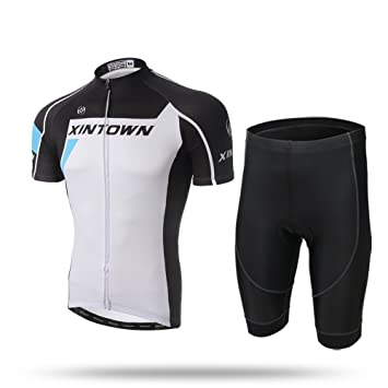 Amazon.com: xintow bicicleta ciclismo Jersey de manga corta ...