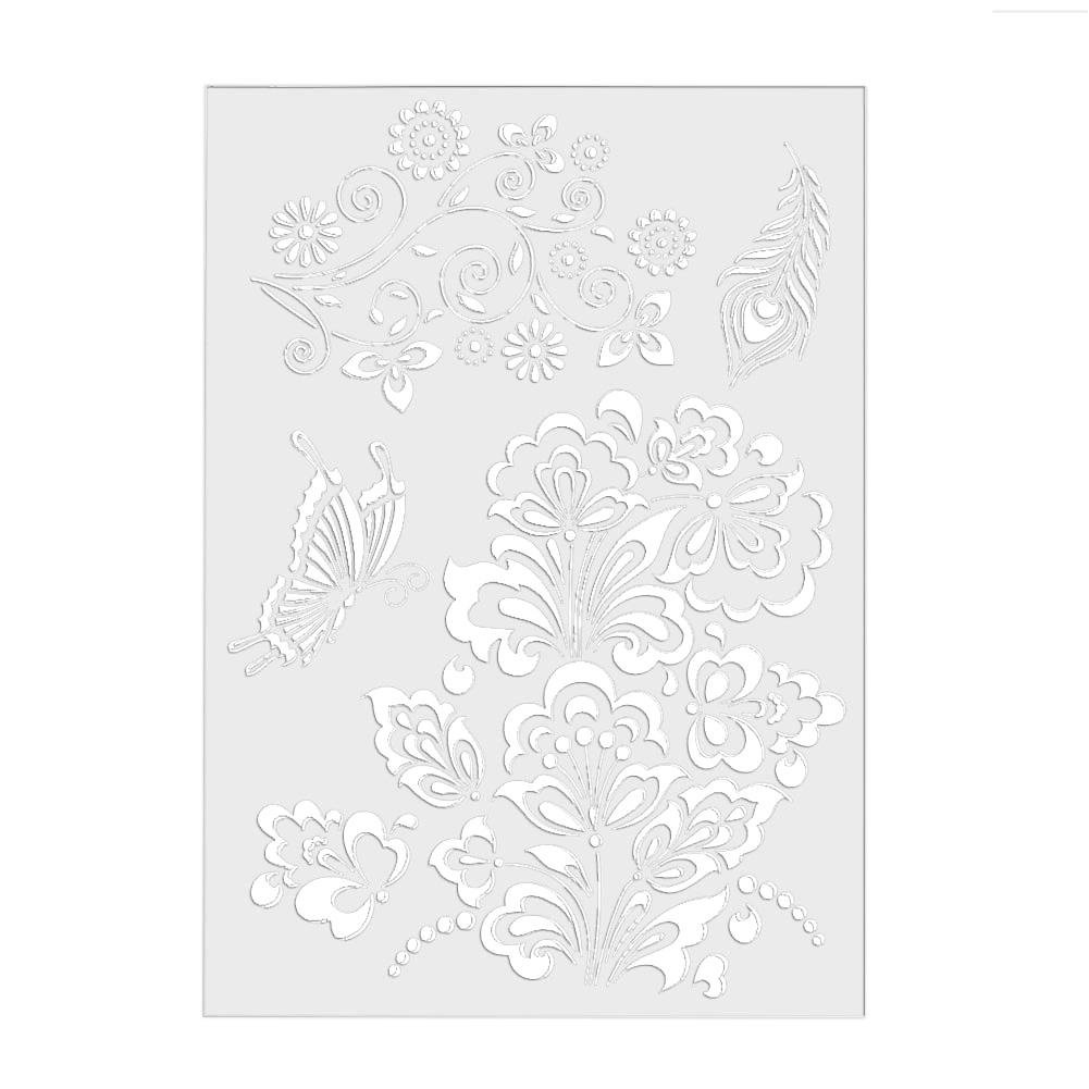 DIY Craft Inkjet Stencils, Cake Coffee Biscuit Spray Painting Template Embossing Paper Card for Scrapbook Stamping Stamp Album Decorative MKChung