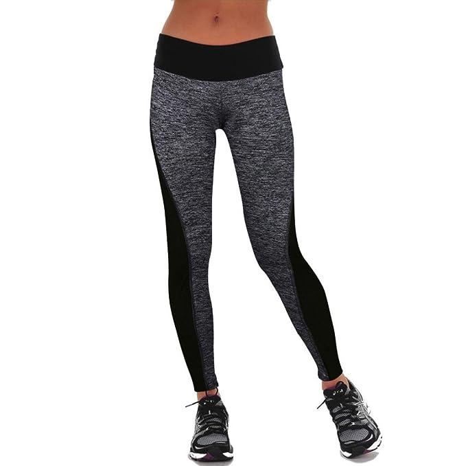 HARRYSTORE Pantalones elásticos de yoga para mujer Mujer Pantalones deportivos elásticos y cómodos mujer Polainas (S, Gris)