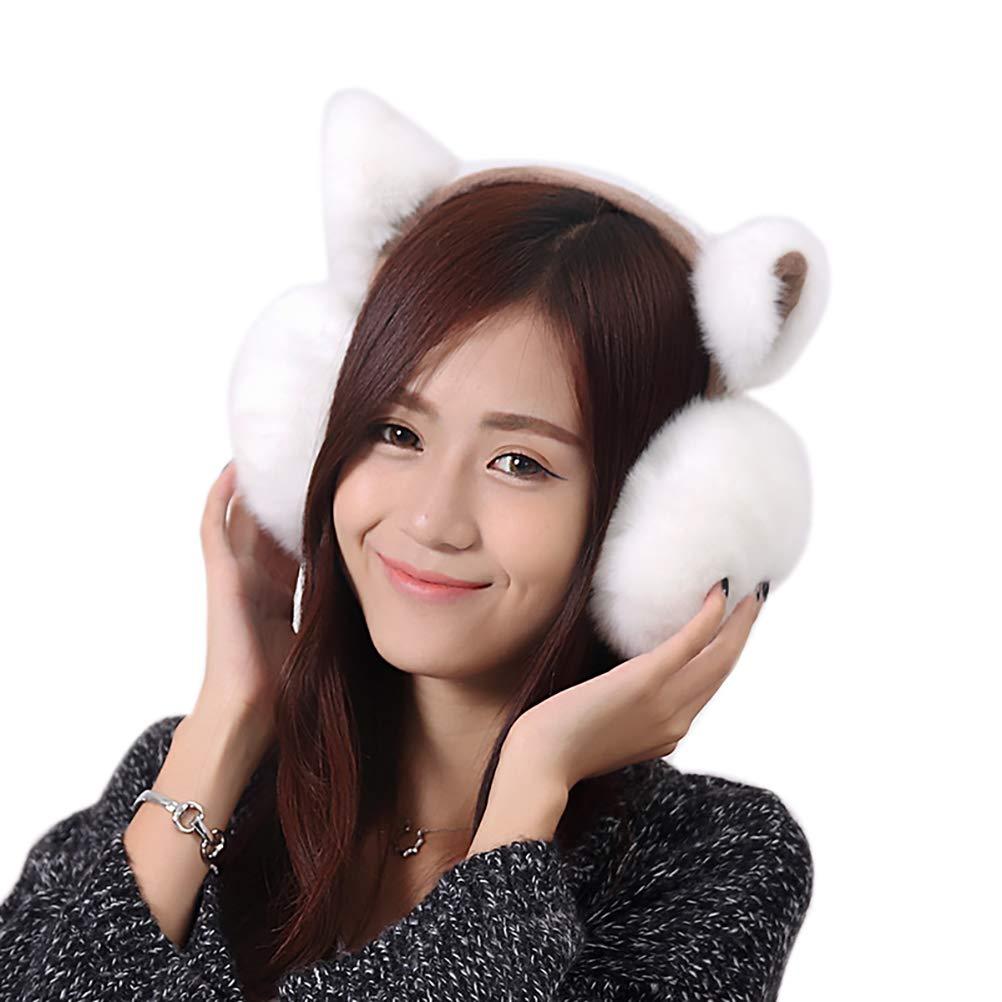 GUSTA Women Girls Winter Warm Earmuffs Faux Fur Ear muff Adjustable Ear Warmer