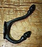 6 Cast Iron BLACK ACORN Style Coat Hooks Hat Hook Rack Hall Tree SCHOOL,Heavy Duty Metal Decorative,Coat Hook,Hat Hook-Wall Mounted,Wall Hook,Coat Hanger,Single Hooks for Bath,Kitchen,Garage