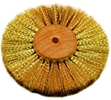 Brass Wire Brush Strands .004'' X 4'' Diameter Crimped 4 Row