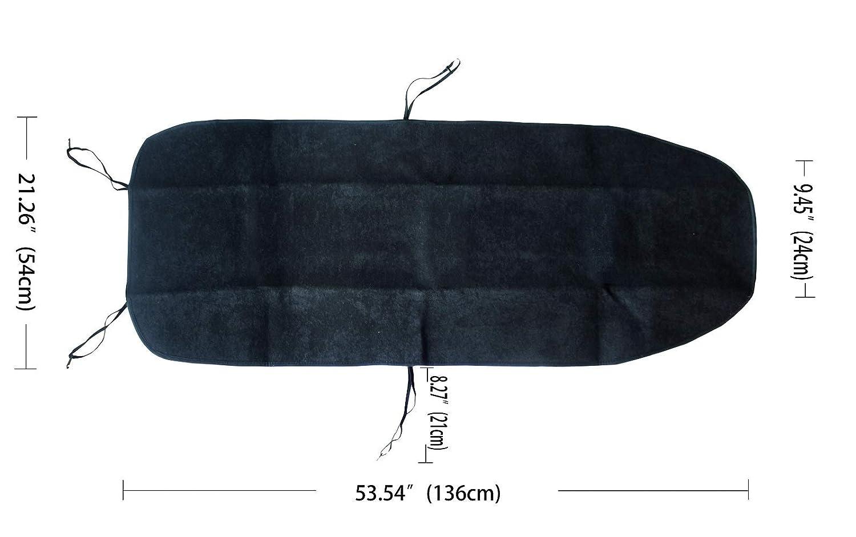 Protector para Asientos de Autom/óvil Cubiertas de Asiento de Auto de Toalla de poli/éste AUTO HIGH Juego de Fundas para Asientos de Coche Negro #1 1 Pack