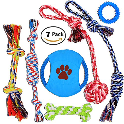 Nolsen-Pet-Dog-Rope-Toys-Puppy-Chew-Toy-Gift-Set-Durable-Cotton-Clean-Teeth-for-Small-and-Medium-Dog-7-Pack
