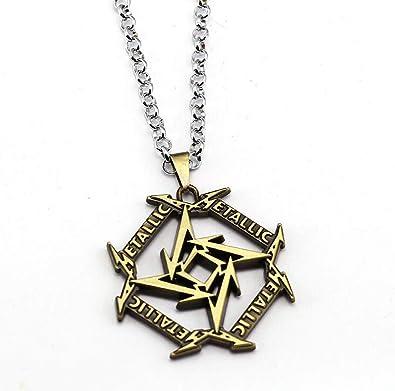 Onlyfo Metallica - Collar con Colgante de Logotipo con Caja ...