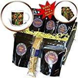 3dRose Uta Naumann Pattern - Aloha Tropical Bird Fruits and Hibiscus Palm Jungle Hawaii Pattern - Coffee Gift Baskets - Coffee Gift Basket (cgb_266994_1)