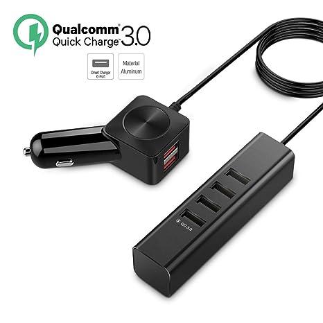 ZDZHU Cargador de Coche Cargador de teléfono USB múltiple ...