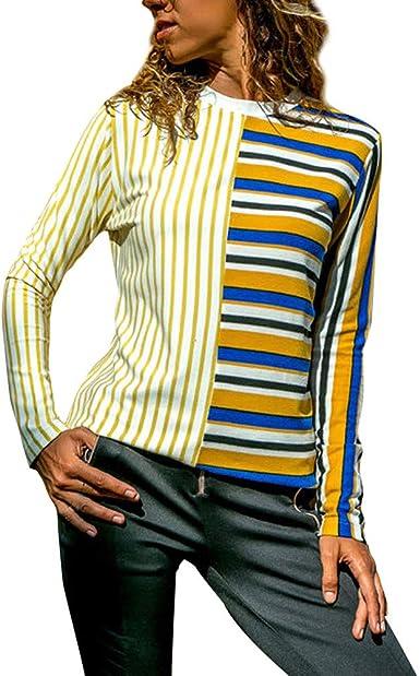 Ofertas de liquidación! Blusa de Rayas Camisas para Mujer ...