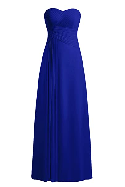 Bbonlinedress Vestido Formal Largo De Gasa De Fiesta De Noche Azul Real 32