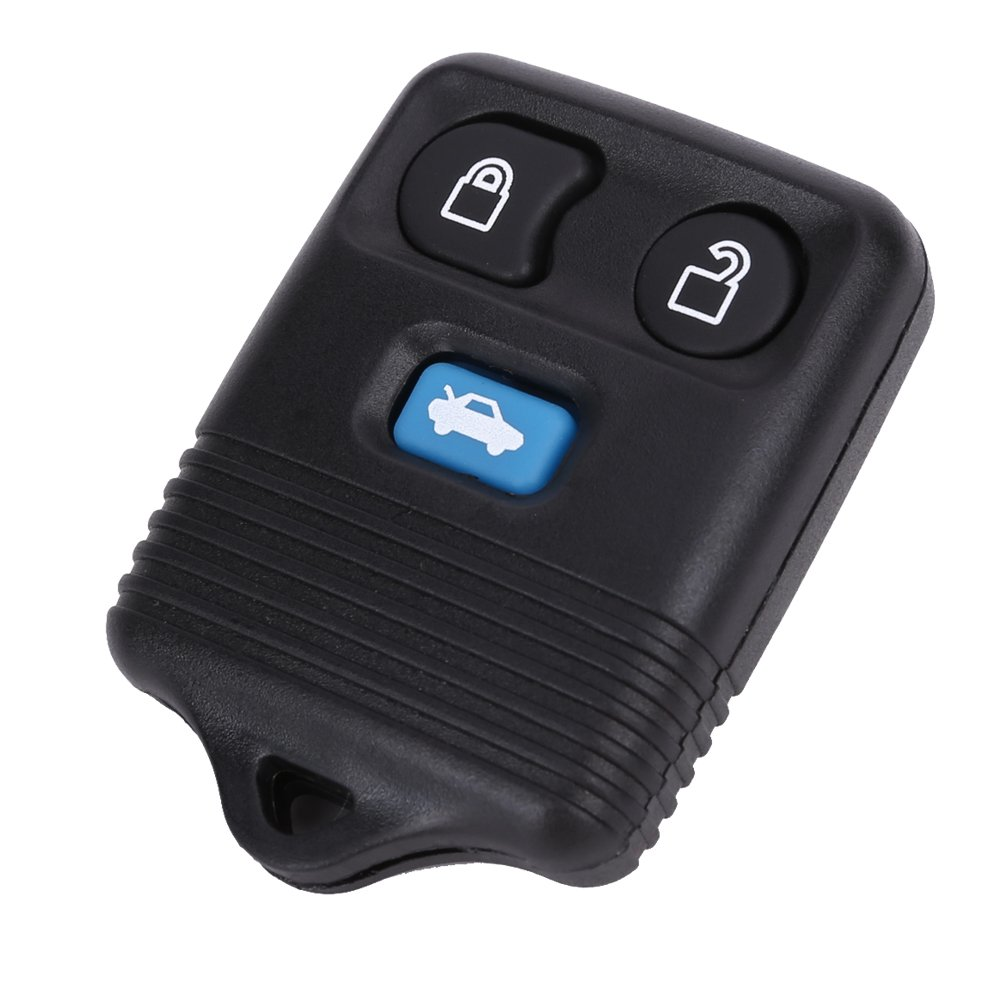 SurePromise One Stop Solution for Sourcing 3 BUTTON KEY KEYLESS ENTRY REMOTE FOB CASE REPLACEMENT WITH INTERIOR ELECTRONICS TRANSPONDER CHIPS AND LITHIUM COIN CELL