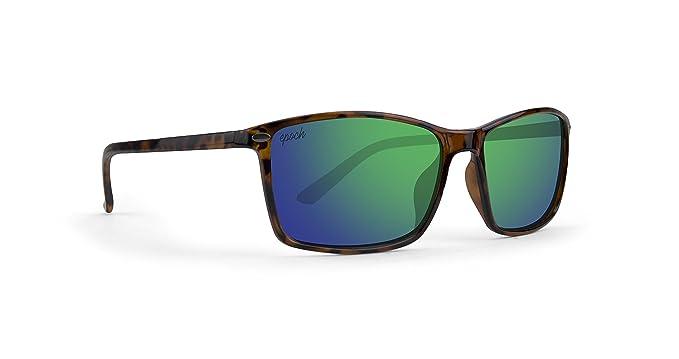 Amazon.com: EPOCH 11 anteojos de sol tortuga/verde espejo ...